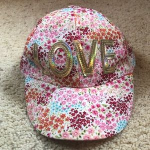 Floral love baseball cap